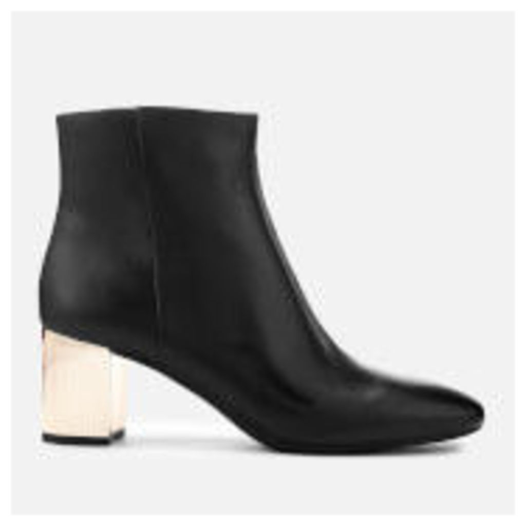 MICHAEL MICHAEL KORS Women's Paloma Leather Heeled Ankle Boots - Black