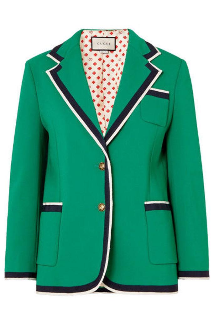 Gucci - Grosgrain-trimmed Cady Blazer - Green