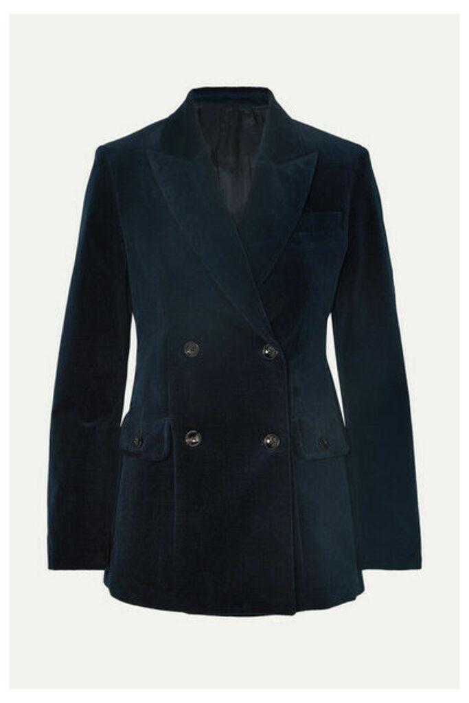 Joseph - Moore Double-breasted Cotton-blend Corduroy Blazer - Navy