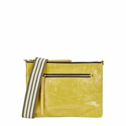 Isabel Marant Nessah Chartreuse Leather Cross-body Bag