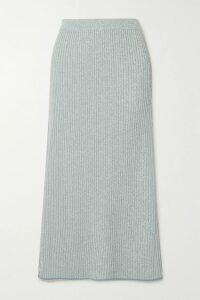 Givenchy - Cutout Pleated Silk-blend Lamé Gown - Blue