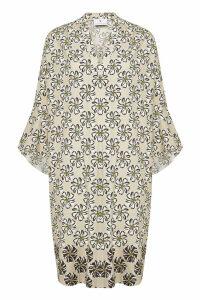 Herzensangelegenheit Lian Printed Dress with Silk