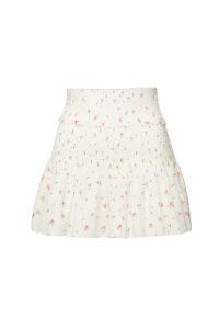 LoveShackFancy Camilla Printed Cotton Skirt