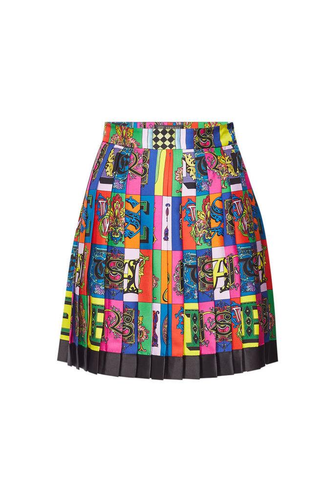 Versace Printed Silk Skirt