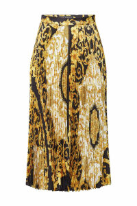 Versace Printed Silk Skirt