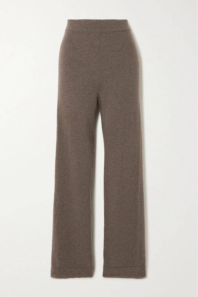 Marni - Printed Pleated Silk-twill Midi Skirt - Peach