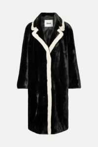 Stand Studio - Marianne Two-tone Faux Fur Coat - Black