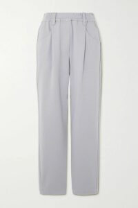 Yves Salomon - Belted Shearling-trimmed Leather Coat - Navy