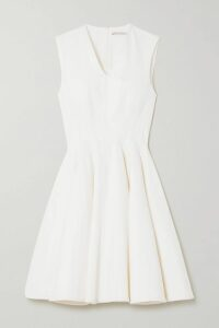 Gucci - Belted Velvet-trimmed Wool-blend Felt Coat - Black