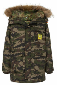 Brumal - Hooded Faux Fur-trimmed Camouflage-print Shell Down Parka - Army green