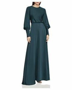 Bcbgmaxazria Satin Draped-Back Maxi Dress
