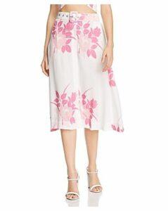 S/W/F Plane Floral Midi Skirt