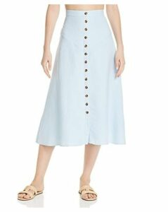 Fame and Partners The Lorilee Button-Down Midi Skirt