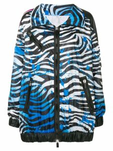 No Ka' Oi zebra print performance jacket - Blue