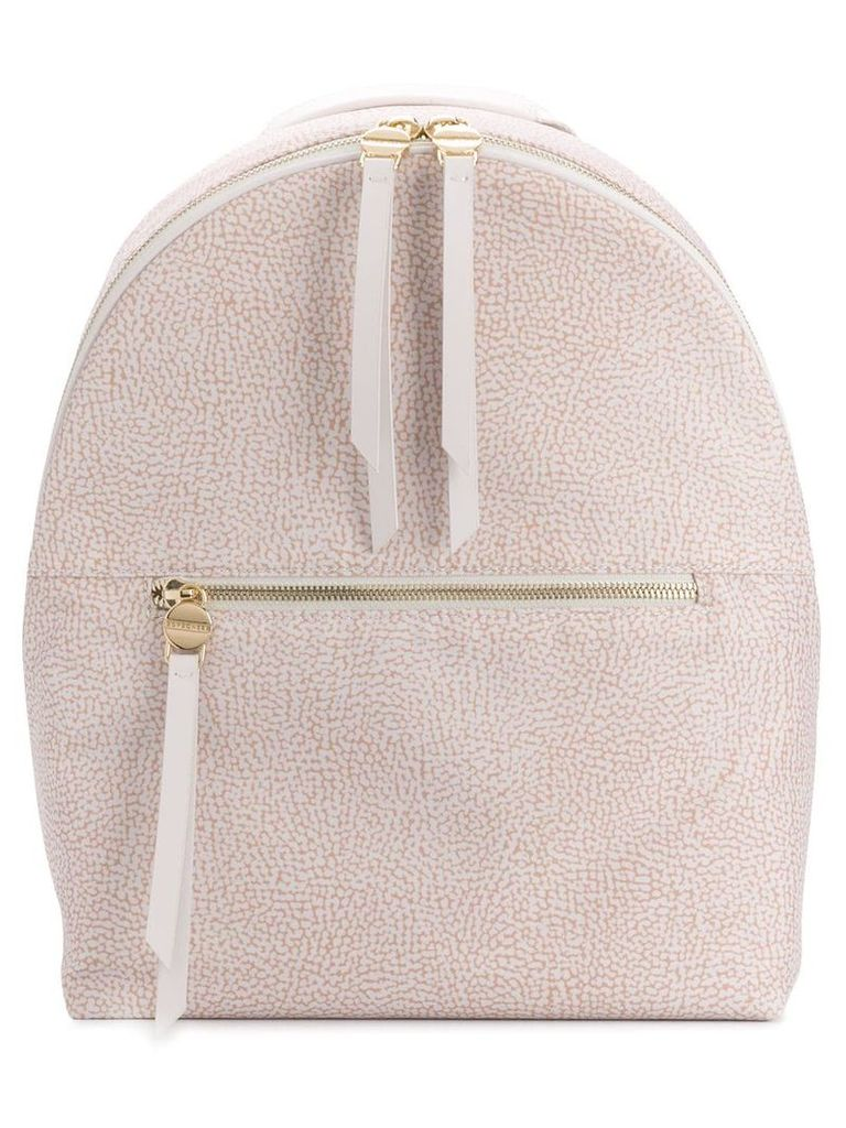 Borbonese classic zipped backpack - Neutrals