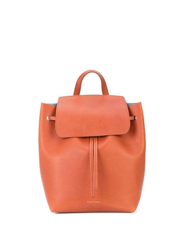 Mansur Gavriel Mini Drawstring backpack - Brown