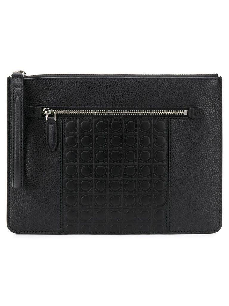 Salvatore Ferragamo Gancini clutch bag - Black