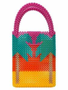 Delduca beaded colour block bag - Pink