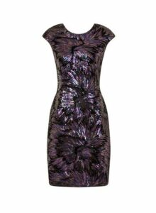 Womens **Little Mistress Multi Colour Sequin Bodycon Dress- Multi Colour, Multi Colour