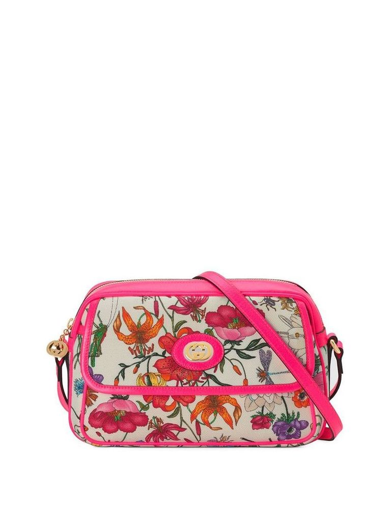 Gucci Small Flora Shoulder Bag - Pink