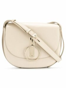Nina Ricci disc buckle rounded shoulder bag - Neutrals