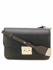 Michael Michael Kors monogram shoulder bag - Brown