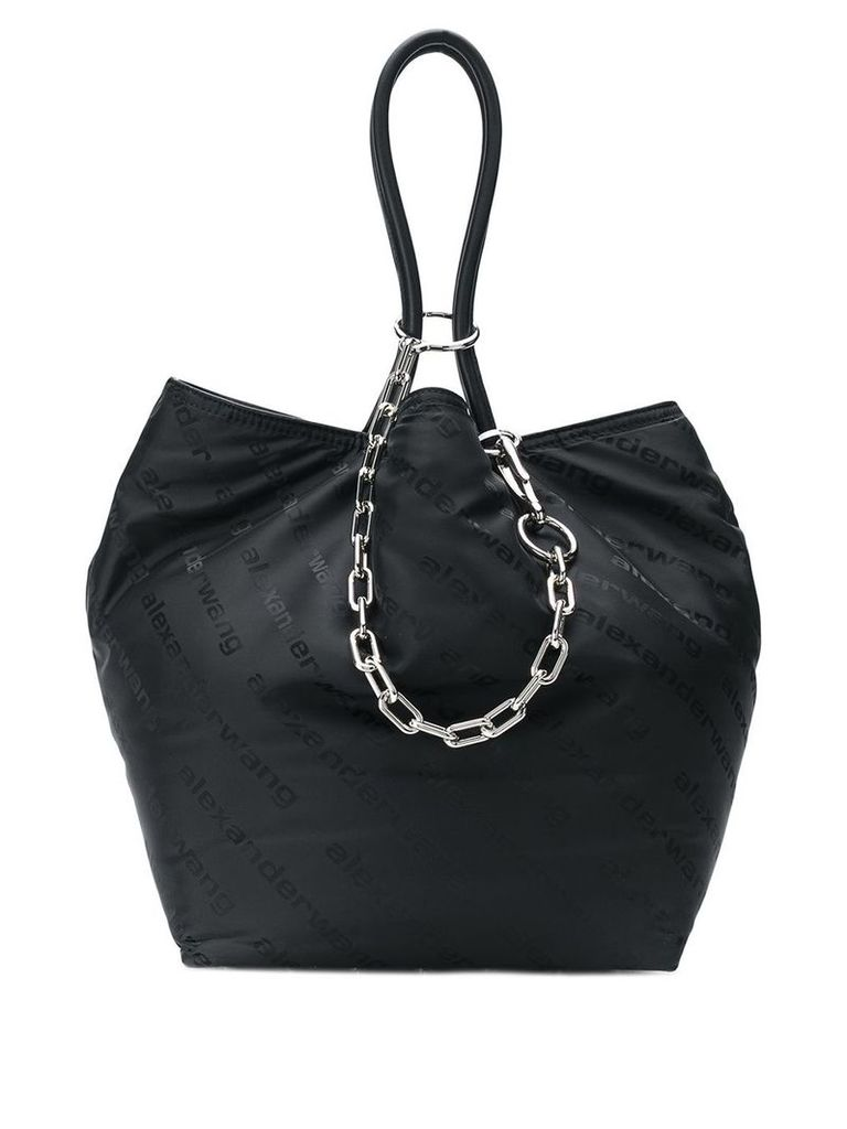 Alexander Wang cable chain tote bag - 001Black