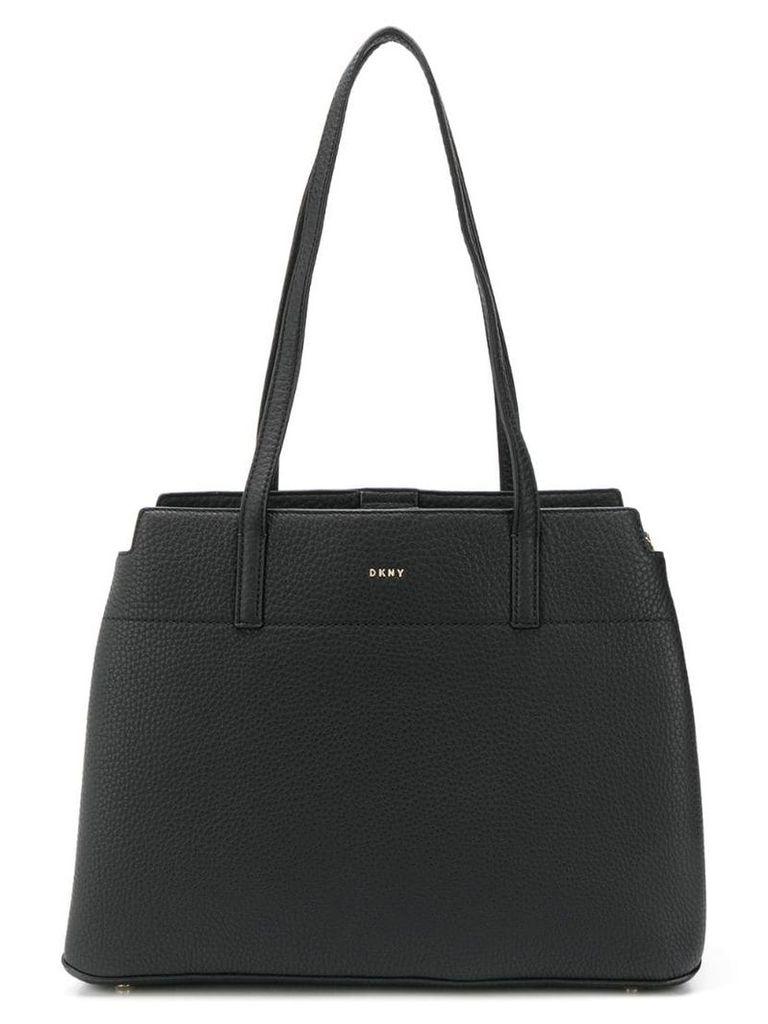 DKNY logo shopper tote - Black