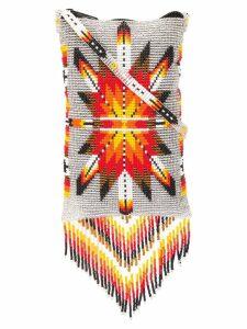 Jessie Western Navajo-style bead bag - Grey