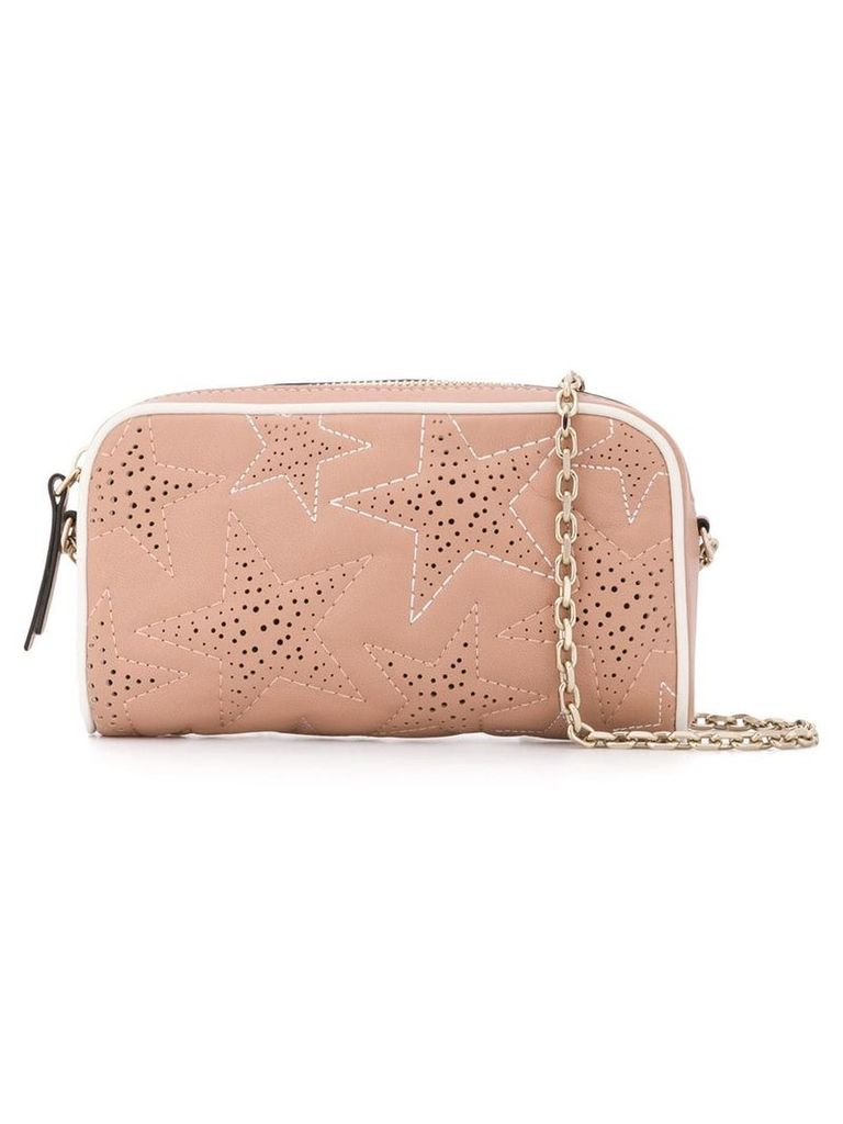 Red Valentino perforated stars crossbody bag - Neutrals