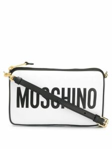 Moschino logo cross body bag - White