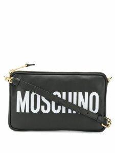 Moschino logo cross body bag - Black