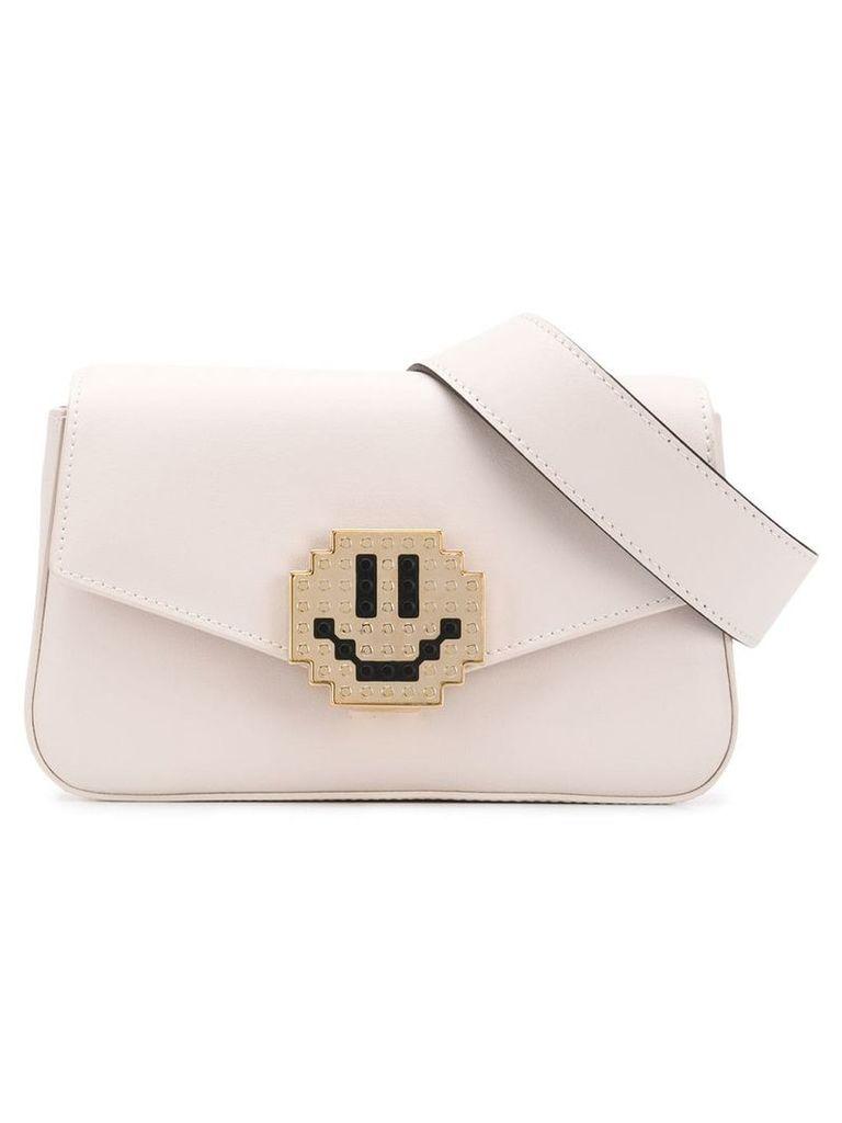 Les Petits Joueurs smiley belt bag - White