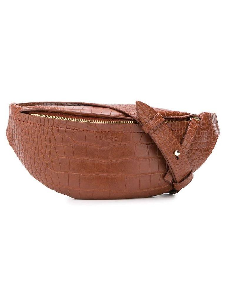 Nanushka lubo bum bag - Brown