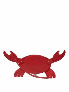 Thom Browne - Crab Shaped Pebblegrain Leather Clutch - Womens - Red