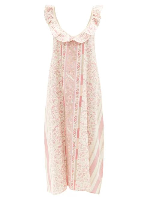 Dolce & Gabbana - Floral Print Welcome Evening Leather Clutch - Womens - Black Multi