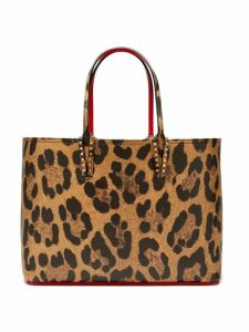 Christian Louboutin - Cabata Leopard Print Grained Leather Tote - Womens - Leopard