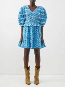 Valentino - Striped Silk Georgette Blouse - Womens - Red Multi