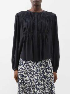 Valentino - Chevron Sequinned Mini Dress - Womens - Gold Multi