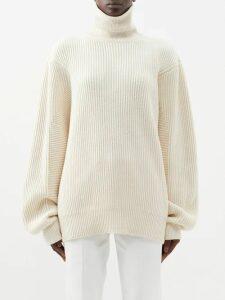 Maison Margiela - Ruffled Mesh Dress - Womens - Black