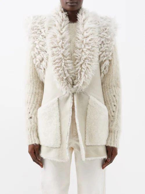 Maison Margiela - Cropped Leather Jacket - Womens - Black