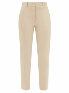 Rochas - Logo Intarsia Cotton Sweater - Womens - Green