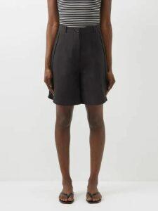 Isa Arfen - Flocked Polka Dot Wool Sweater - Womens - Blue Multi