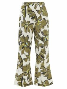 Golden Goose - Belted Striped Cotton Blend Dress - Womens - Cream Stripe