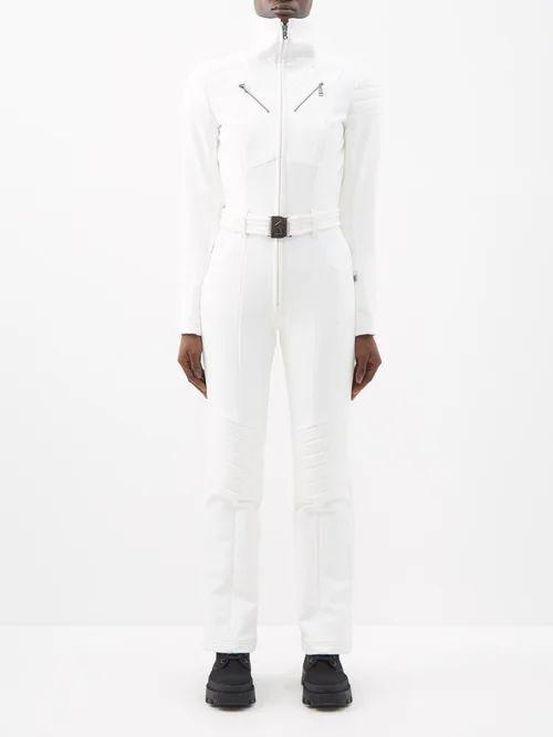Isa Arfen - Sculpted Floral Brocade Midi Skirt - Womens - Green Multi