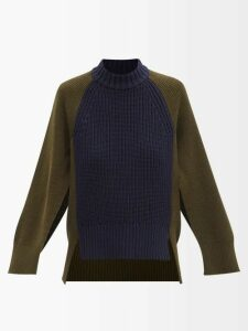 Isa Arfen - Sculpted Floral Brocade Midi Skirt - Womens - Green Multi