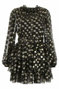 Dolce & Gabbana Lurex Polka Dots Silk Dress