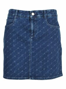 Stella Mccartney Stella Mccartney Logo Print Denim Skirt