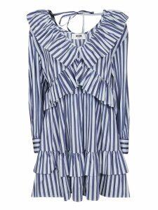 MSGM V-neck Striped Dress