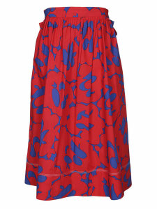 Marni Floral Printed Midi Skirt